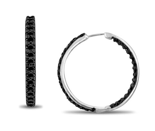 1 CTTW 10KT White gold Inside-Out Hoops