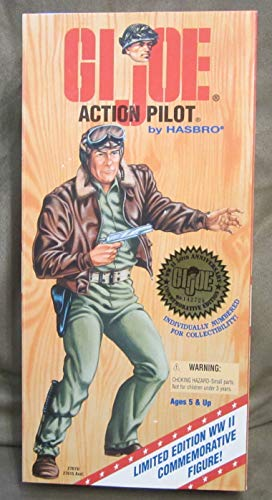"""12"""" GI Joe Action Pilot Action Figure WWII 50th Anniversary Numbered Commemorative Edition (White Hair Version)"""
