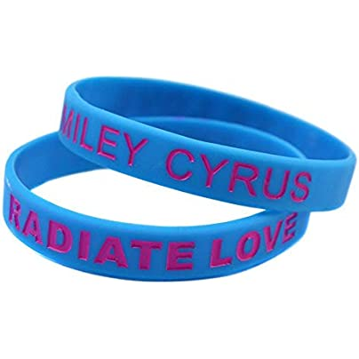 Serired Fashion Bracelet Silicone Wristbands With Sayings Miley Cyrus Radiate Love Rubber Wristbands For Men Set Pieces Estimated Price £26.49 -