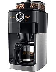 Philips Koffiezetapparaat Grind & Brew - Zet 12 koppen koffie - Geintgreerde koffiemolen - Dubbele bonenhouder - Timer - Druppelstop - Automatische uitschakeling - Zwart - HD7769/00