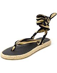 Nalho Women's Yoga Mat Memory Foam Espadrilles Sandals, Karabi Metallic
