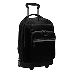 "J World SUNDANCE II 20"" Double Handle Laptop Rolling Backpack in Black"