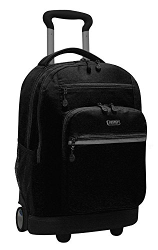 "J World SUNDANCE II 20"" Double Handle Laptop Rolling Backpack in Black"