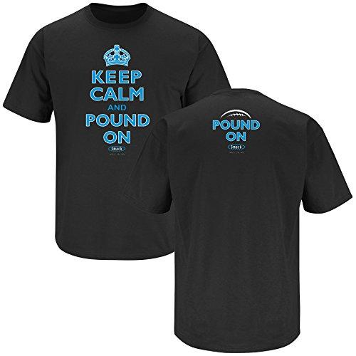 Carolina Football Fans. Keep Calm and Pound On Black T-shirt (2XL)