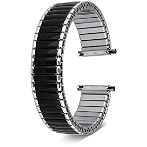 United Watch Bands for Men & Women Expandable | Choice of Colors | Universal Fit 16mm, 18mm, 19mm, 20mm, 21mm,and 22MM | Includes 2 Spring Bars