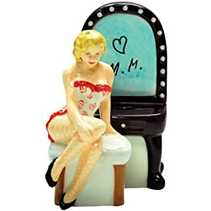 Westland Giftware Marilyn Monroe Magnetic Lingerie Marilyn and Vanity Salt and Pepper Shaker Set, 4-Inch