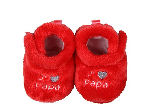 """j'aime papa-Patucos para bebé Rojo - rojo"