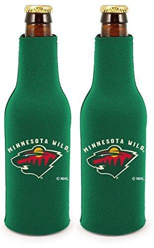 fan products of NHL Hockey 2014 Team Color Logo Bottle Suit Holder Koozie Cooler 2-Pack (Minnesota Wild)