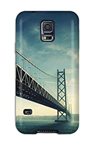 Galaxy S5 Hard Back With Bumper Silicone Gel Tpu Case Cover Long Bridge Iphone 5