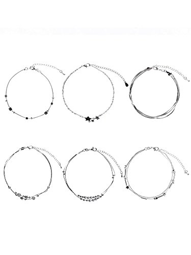 Hestya 6 Pieces Anklets Foot C