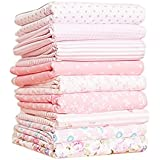 Shi Tong Cotton Fabric Bundles Quilting Size 24*24cm Total 9pcs in One Package Pink Set