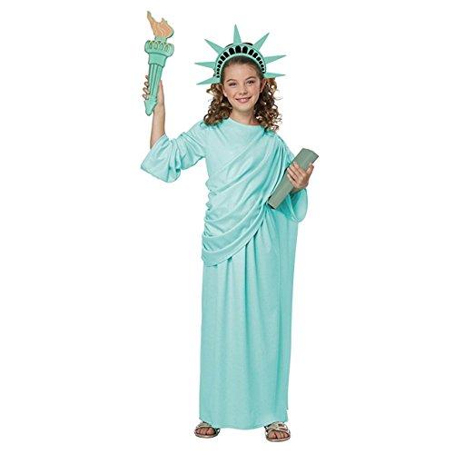 California Costumes Lady Usa  Landmark Statue Of Liberty Girls Costume  Mint Green  Medium