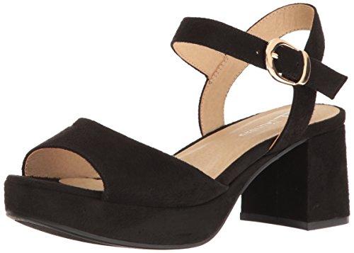 CL by Chinese Laundry Women's Kensie Platform Dress Sandal, Black Super Suede,  9 M US