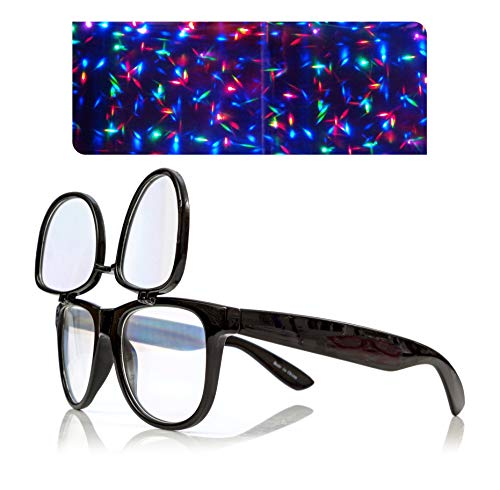 Premium Double Diffraction Glasses, Ideal for Raves, Festivals