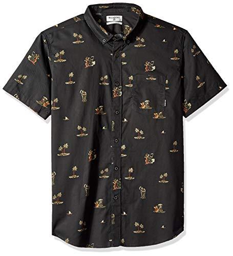 Billabong Men's Sundays Mini Short Sleeve Shirt Black Small