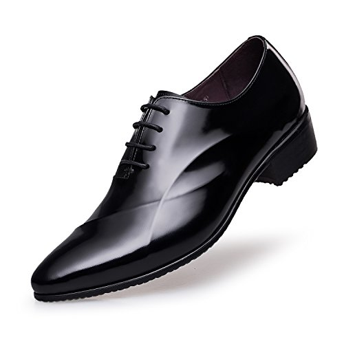 - ZRO Men's Lace Up Formal Modern Oxford Dress Shoes Black US 10
