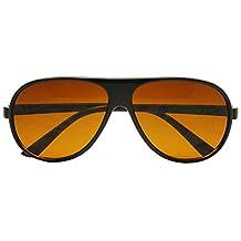Sunglass Stop - 80's Retro Round XL Blue Blocking Aviator Bomber Sunglasses