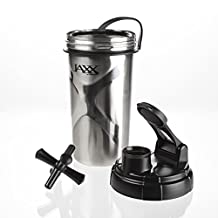Fit & Fresh Jaxx Shaker Botella de acero inoxidable.
