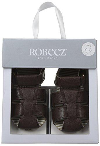 Robeez Boys' Samuel Sandal - First Kicks, Espresso, 0-3 Months M US Infant - Image 7