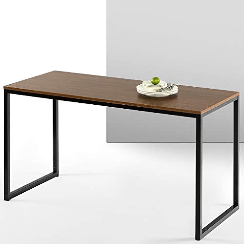 ZINUS Jennifer 55 Inch Black Frame Desk / Computer Workstation / Office Desk / Easy Assembly, Brown