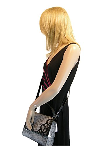 amp; New Black Purse Guess Set Wallet Crossbody Hand 2 Logo Gray Satchel Bag Piece TT0q4rwd