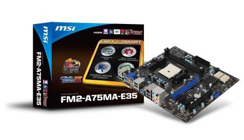 MSI AMD A75 MicroATX DDR3 2133 370 Motherboards FM2-A75MA-E35 (Motherboard 2133 Msi)