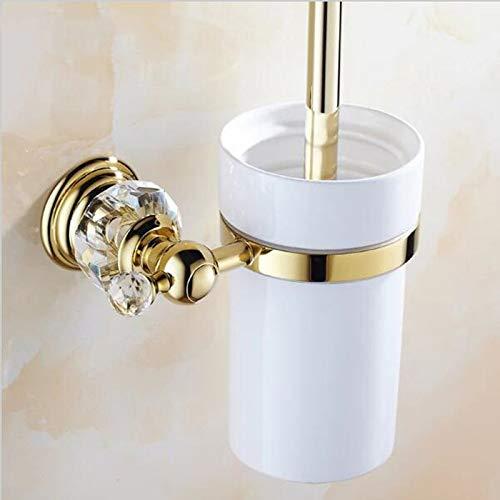 TOILETHERO Luxury Golden Crystal Toilet Brush Holder with Ceramic Cup/Household Products Bath Brush Decoration Bathroom - Brush Sensor Roll