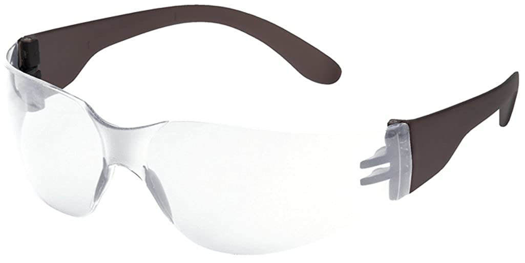 Portwest Wrap Around Safety Glasses / Eye Wear Regular Clear Lens Clear Temple Portwest Clothing Ltd PW32CCL