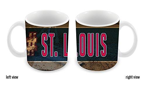 BleuReign(TM) Hashtag St. Louis #StLouis Baseball Team 11oz Ceramic Coffee Mug