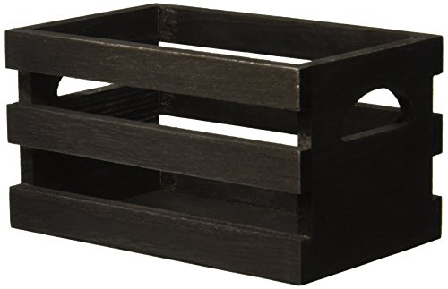7gypsies Vintage Photo Crate, 4 by-6-Inch, Black (Wooden Crate Finished)