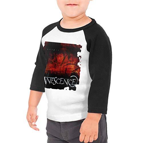 (Kangtians Aknvufqcvl Kids Evanescence Origin Funny Sleeve Rag Shirt 5/6T)
