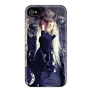 Perfect Hard Cell-phone Case For Iphone 4/4s With Support Your Personal Customized Lifelike Nevermore Band Pattern JonBradica
