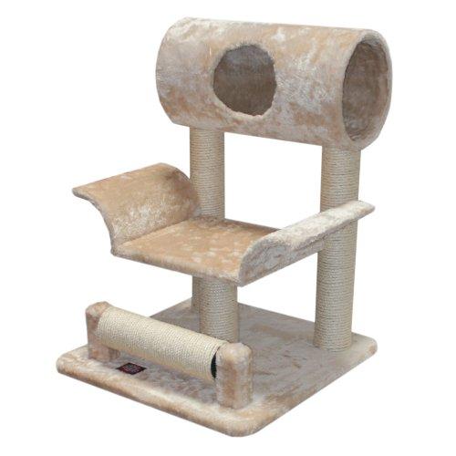 Majestic Pet Products 29 inch Beige Casita Cat Furniture Condo House Scratcher Multi Level Pet Activity Tree ()