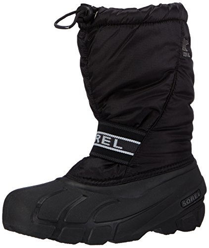 Weather Cold Fashion Boots - Sorel Youth Cub Cold Weather Boot , Black, 7 M US Big Kid