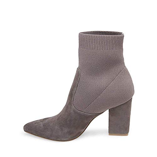 9 Us Bootie 5 Women's Dress Grey Suede Steve Madden Reece 0wTBTq