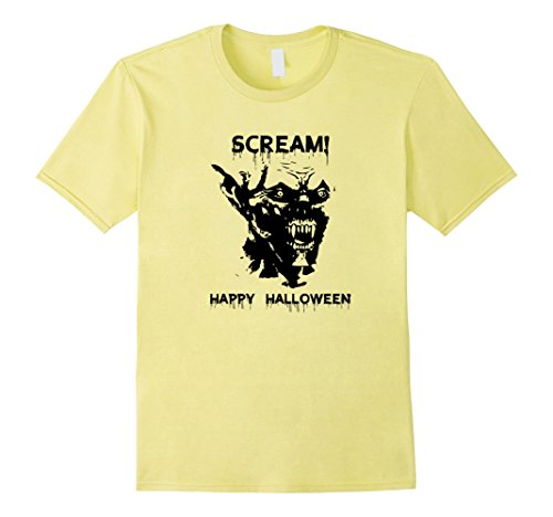 Mens SCREAM HAPPY HALLOWEEN Men Women Youth in 5 colors T-shirt Medium (Scream Scarecrow)