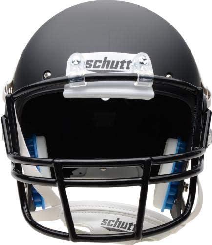 College Replica Helmets Appalachian State Mountaineers Schutt Black Matte Replica Football Helmet