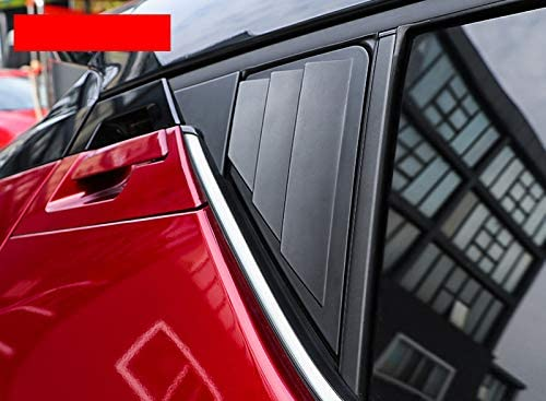 Glossy Black ABS for Toyota C-HR 2016 2017 2018 2019 2020 Car Accessories Rear Window Scoop Louvers Cover Trims 2PCS