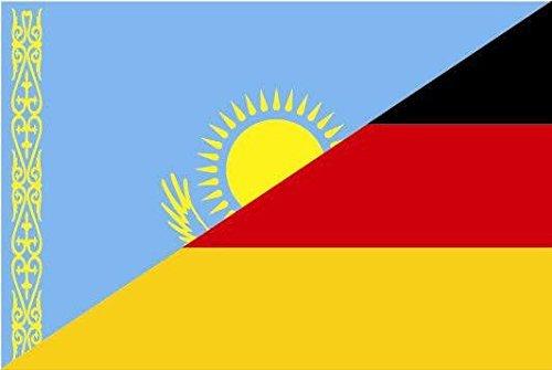 U24 Fahne Flagge Kasachstan-Deutschland Bootsflagge Premiumqualit/ät 20 x 30 cm