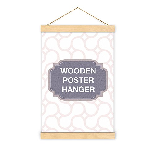 Non-Standard Size Maple Wooden Poster Hanger - magnet self assembly (18 inch (45.72cm))