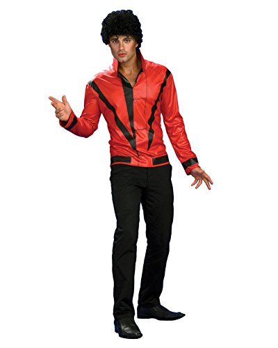 Thriller Pop Star Jacket Red 80s Jacket King of Pop Celebrity Costumes Sizes: X-Large