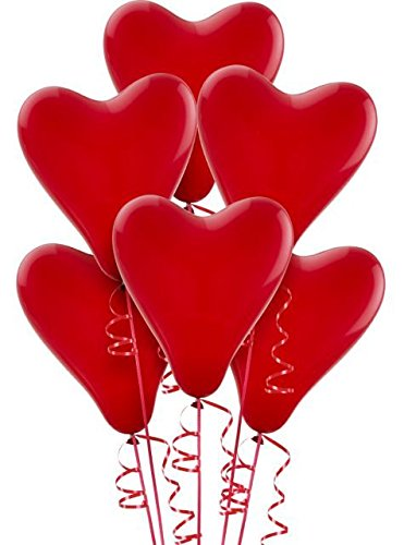 Gopi Heart Shape Extra Large Latex Balloons - Red (Pack of 70) with I Love U Wording Printed: Amazon.in: Toys & Games
