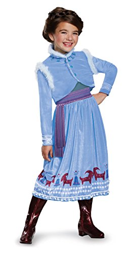 Anna Frozen Adventure Dress Deluxe Costume, Multicolor, Medium (7-8) -