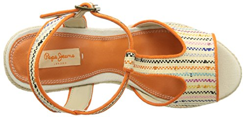 Pepe Jeans London Walker T Bar Damen Espadrilles Beige - Beige (816 Natural)