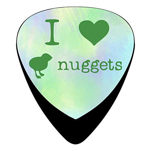 STREMUSIC I Love Chicken Nuggets Celluloid Electric Guitar Picks 12-pack Plectrums For Bass Music ()