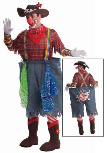 Men's Rodeo Clown Costume, Multi-Colored, One Size ()