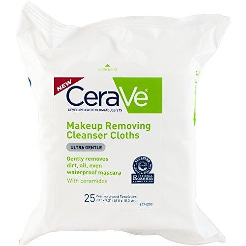 CeraVe Makeup Removing Cleanser Cloths, 25 Count - Buy Packs