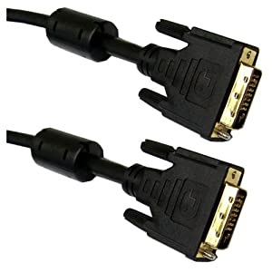 DVI-D Dual Link Cable with Ferrite, Black, DVI-D Male, 3 meter (10 foot)