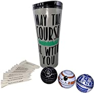 GBM GOLF BALL MANUFACTURERS May The Course be with You Cup with 3 Star Wars Balls and 20 Star Wars tees