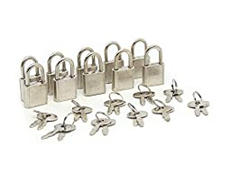 SourceOne Mini Padlocks, Silver-ish, Pack of 30